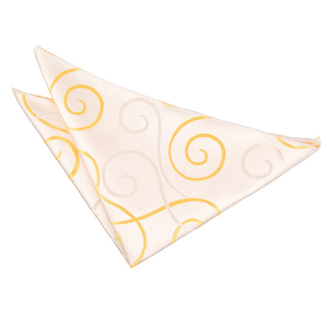 TiesDirect.co.uk - Scroll Handkerchief Colour gold