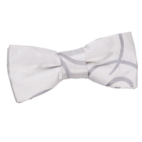 TiesDirect.co.uk - Scroll Pre-Tied Bow Tie - Boys Colour silver