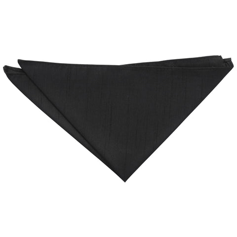 Shantung Pocket Square - Black | TiesDirect.co.uk