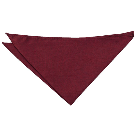 Shantung Pocket Square - Burgundy | TiesDirect.co.uk