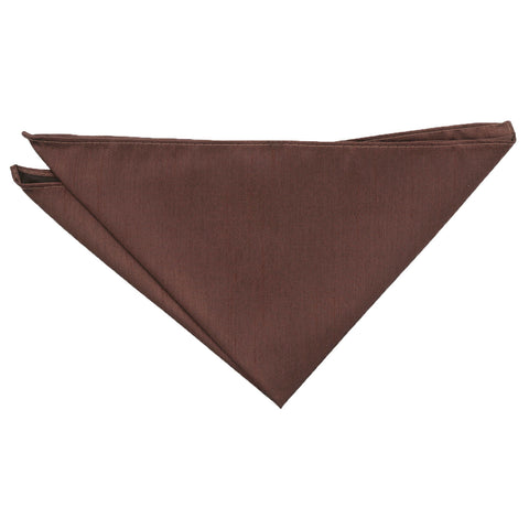 Shantung Pocket Square - Chocolate Brown | TiesDirect.co.uk