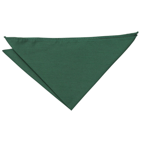 Shantung Pocket Square - Emerald Green | TiesDirect.co.uk