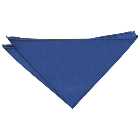 Shantung Pocket Square - Navy Blue | TiesDirect.co.uk