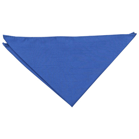 Shantung Pocket Square - Royal Blue | TiesDirect.co.uk