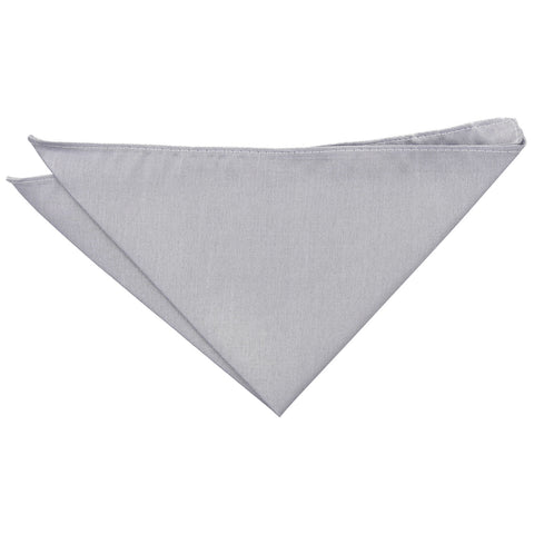 Shantung Pocket Square - Silver | TiesDirect.co.uk