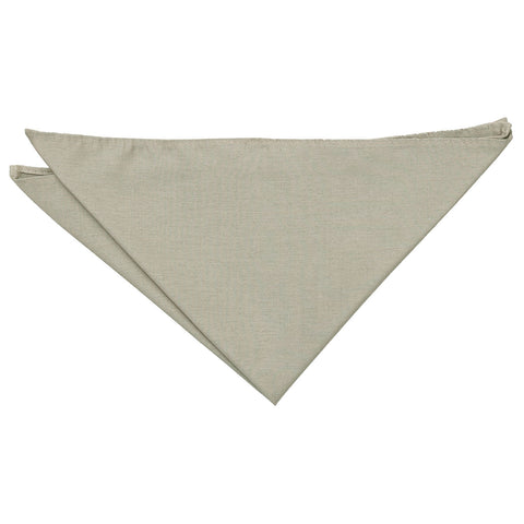 Shantung Pocket Square - Taupe | TiesDirect.co.uk