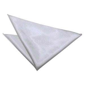 TiesDirect.co.uk - Plain Satin Handkerchief Colour silver
