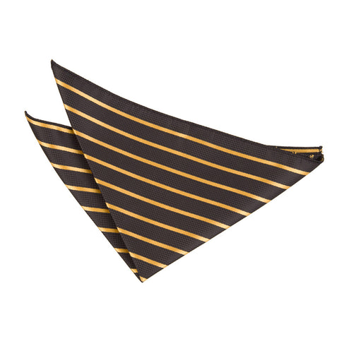 TiesDirect.co.uk - Single Stripe Handkerchief Colour black-gold