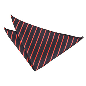 TiesDirect.co.uk - Single Stripe Handkerchief Colour black-red
