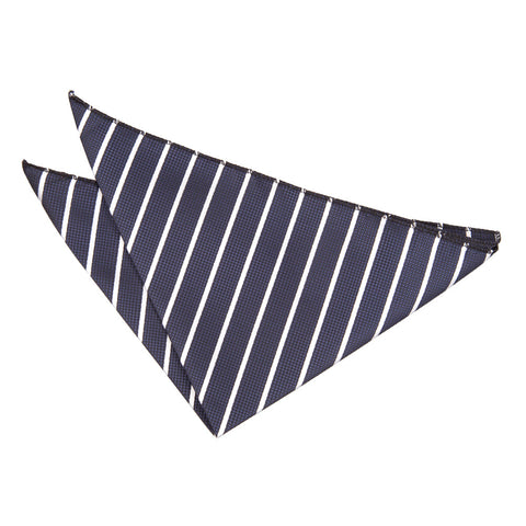 TiesDirect.co.uk - Single Stripe Handkerchief Colour navy-white
