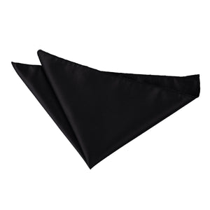 TiesDirect.co.uk - Solid Check Handkerchief Colour black
