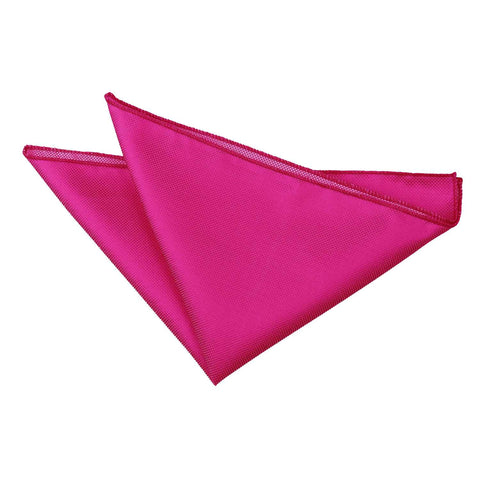 TiesDirect.co.uk - Solid Check Handkerchief Colour fuchsia-pink