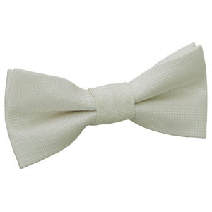Solid Check Pre-Tied Bow Tie - Boys - ivory -