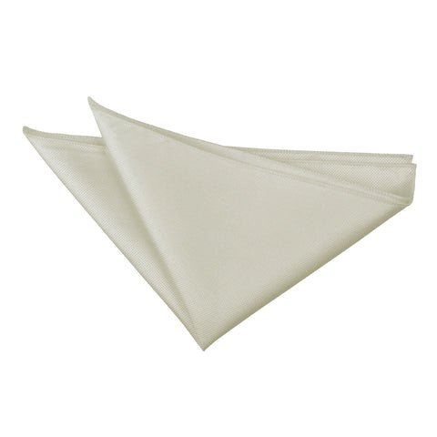 TiesDirect.co.uk - Solid Check Handkerchief Colour ivory