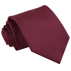 TiesDirect.co.uk - Solid Check Regular Tie Colour burgundy