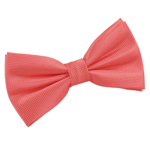 TiesDirect.co.uk - Solid Check Pre-Tied Bow Tie Colour coral