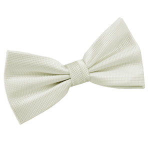 TiesDirect.co.uk - Solid Check Pre-Tied Bow Tie Colour ivory