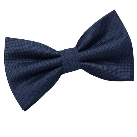 TiesDirect.co.uk - Solid Check Pre-Tied Bow Tie Colour navy-blue