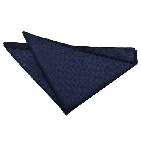 TiesDirect.co.uk - Solid Check Handkerchief Colour navy-blue