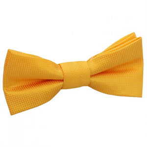 Solid Check Pre-Tied Bow Tie - Boys - sunflower-fold -