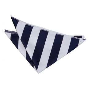 TiesDirect.co.uk - Striped Handkerchief Colour navy-white