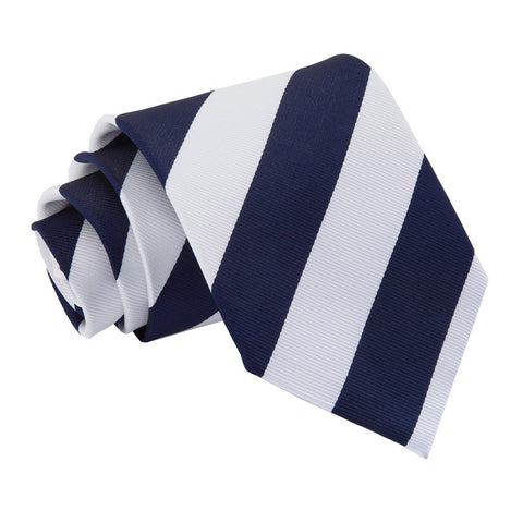 TiesDirect.co.uk - Striped Regular Tie Colour navy-white