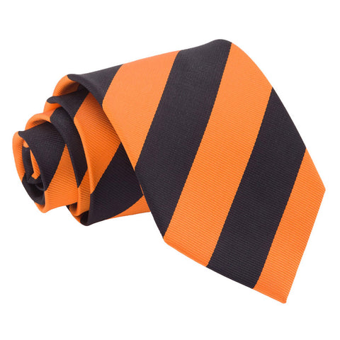 TiesDirect.co.uk - Striped Regular Tie Colour orange-black
