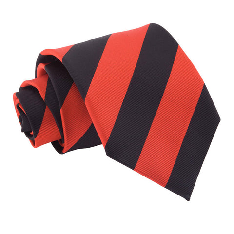 TiesDirect.co.uk - Striped Regular Tie Colour red-black