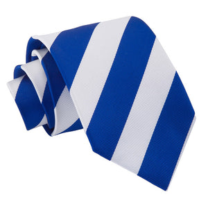 TiesDirect.co.uk - Striped Regular Tie Colour royal-blue-white