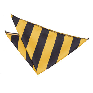 TiesDirect.co.uk - Striped Handkerchief Colour yellow-black