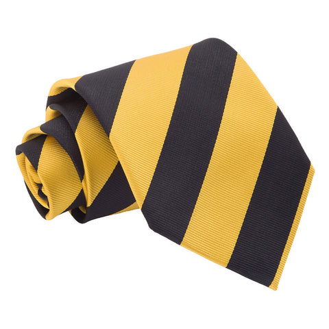 TiesDirect.co.uk - Striped Regular Tie Colour yellow-black