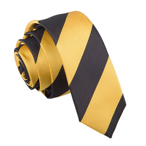 TiesDirect.co.uk - Striped Skinny Tie Colour yellow-black