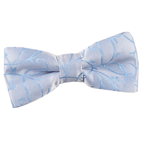 TiesDirect.co.uk - Swirl Pre-Tied Bow Tie - Boys Colour baby-blue