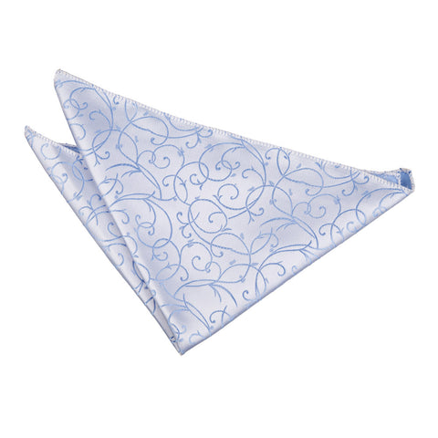 TiesDirect.co.uk - Swirl Handkerchief Colour baby-blue