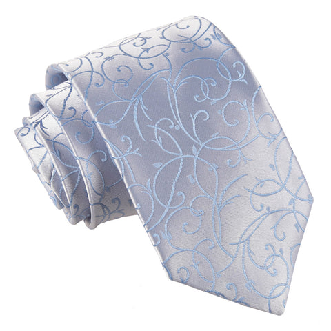 TiesDirect.co.uk - Swirl Regular Tie Colour baby-blue