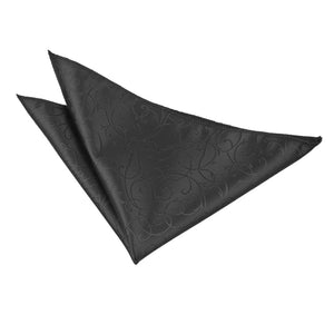 TiesDirect.co.uk - Swirl Handkerchief Colour black