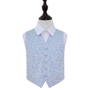 TiesDirect.co.uk - Swirl Waistcoat - Boys Colour baby-blue