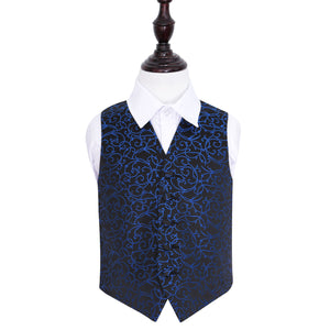 TiesDirect.co.uk - Swirl Waistcoat - Boys Colour black-blue