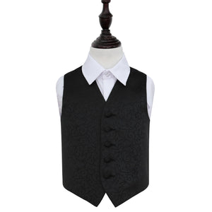 TiesDirect.co.uk - Swirl Waistcoat - Boys Colour black