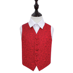 TiesDirect.co.uk - Swirl Waistcoat - Boys Colour burgundy
