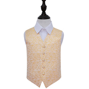 TiesDirect.co.uk - Swirl Waistcoat - Boys Colour gold