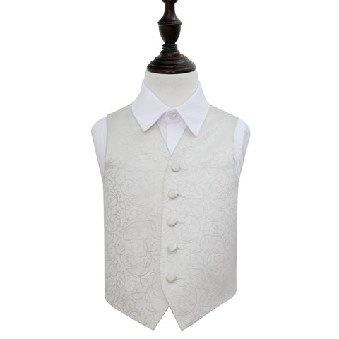 TiesDirect.co.uk - Swirl Waistcoat - Boys Colour ivory