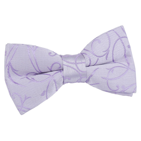 TiesDirect.co.uk - Swirl Pre-Tied Bow Tie - Boys Colour lilac