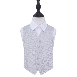 TiesDirect.co.uk - Swirl Waistcoat - Boys Colour silver