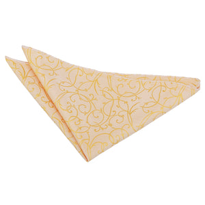 TiesDirect.co.uk - Swirl Handkerchief Colour gold