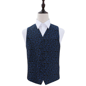 TiesDirect.co.uk - Swirl Waistcoat Colour black-blue