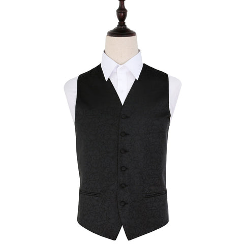 TiesDirect.co.uk - Swirl Waistcoat Colour black