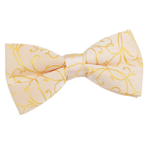 TiesDirect.co.uk - Swirl Pre-Tied Bow Tie Colour gold