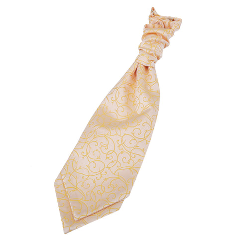 TiesDirect.co.uk - Swirl Pre-Tied Ruche Cravat Colour gold