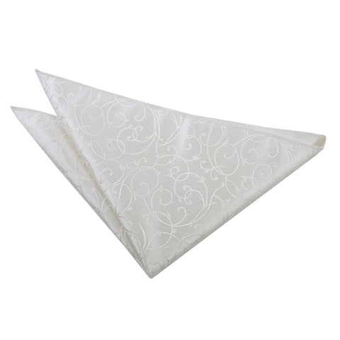 TiesDirect.co.uk - Swirl Handkerchief Colour ivory